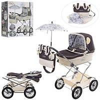 Коляска 82000 для ляльки, класика, кошик, парасолька, сумка, подушка, кор., 60-24-50 см.