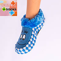 Детские вязаные следы с тормозами Home socks 8192-3. 1 пара. 16 см.