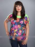 Стильная шифоновая женская блуза
