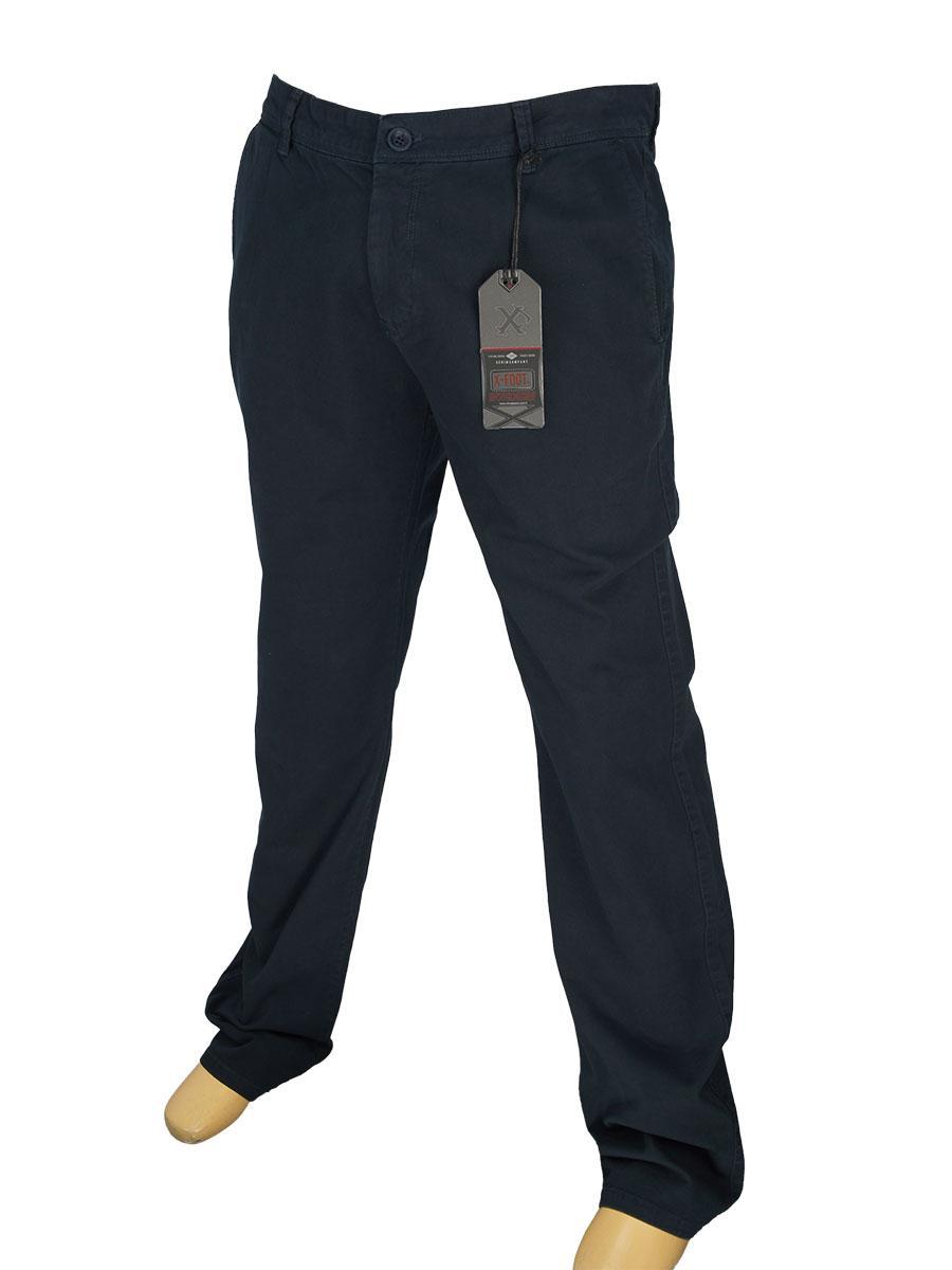 Хлопковые мужские джинсы X-Foot 150-7002 темно-синего цвета