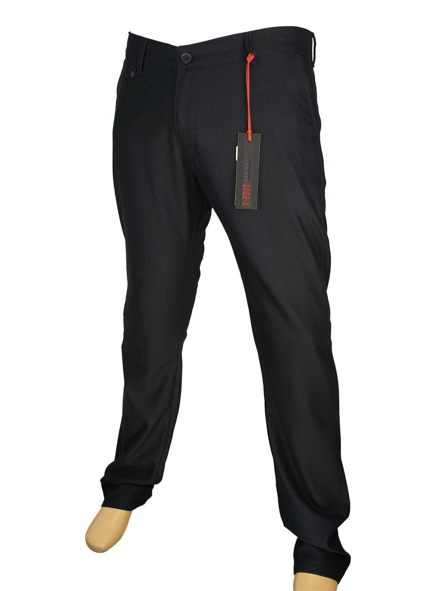 Мужские черные джинсы  X-Foot 150-3031 в большом размере