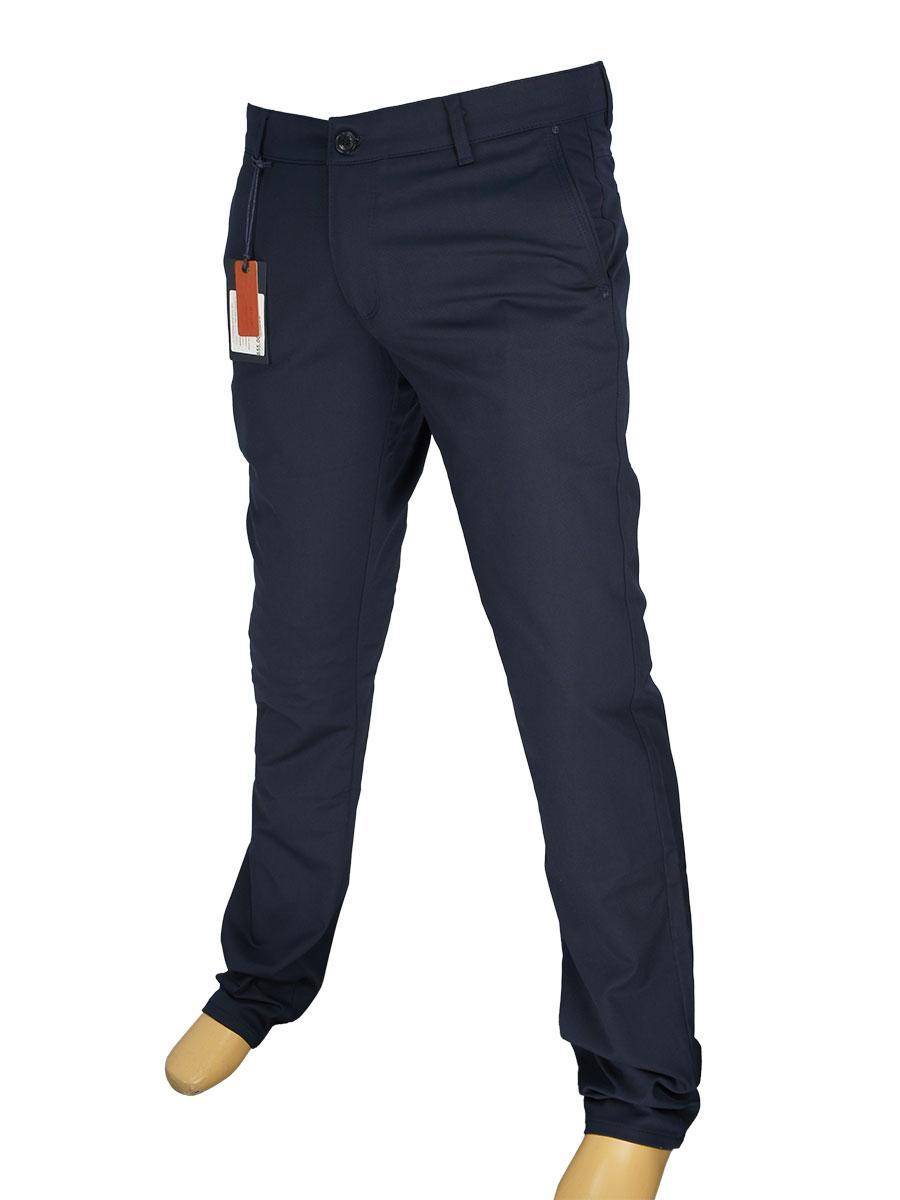Брючные мужские джинсы X-Foot 180-3274 в темно-синем цвете