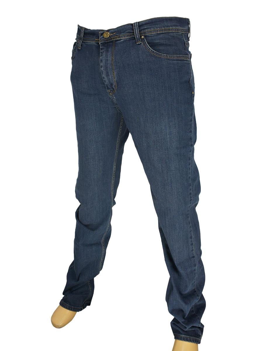 Однотонные мужские джинсы Cen-cor CNC-1489-ВТ Blue