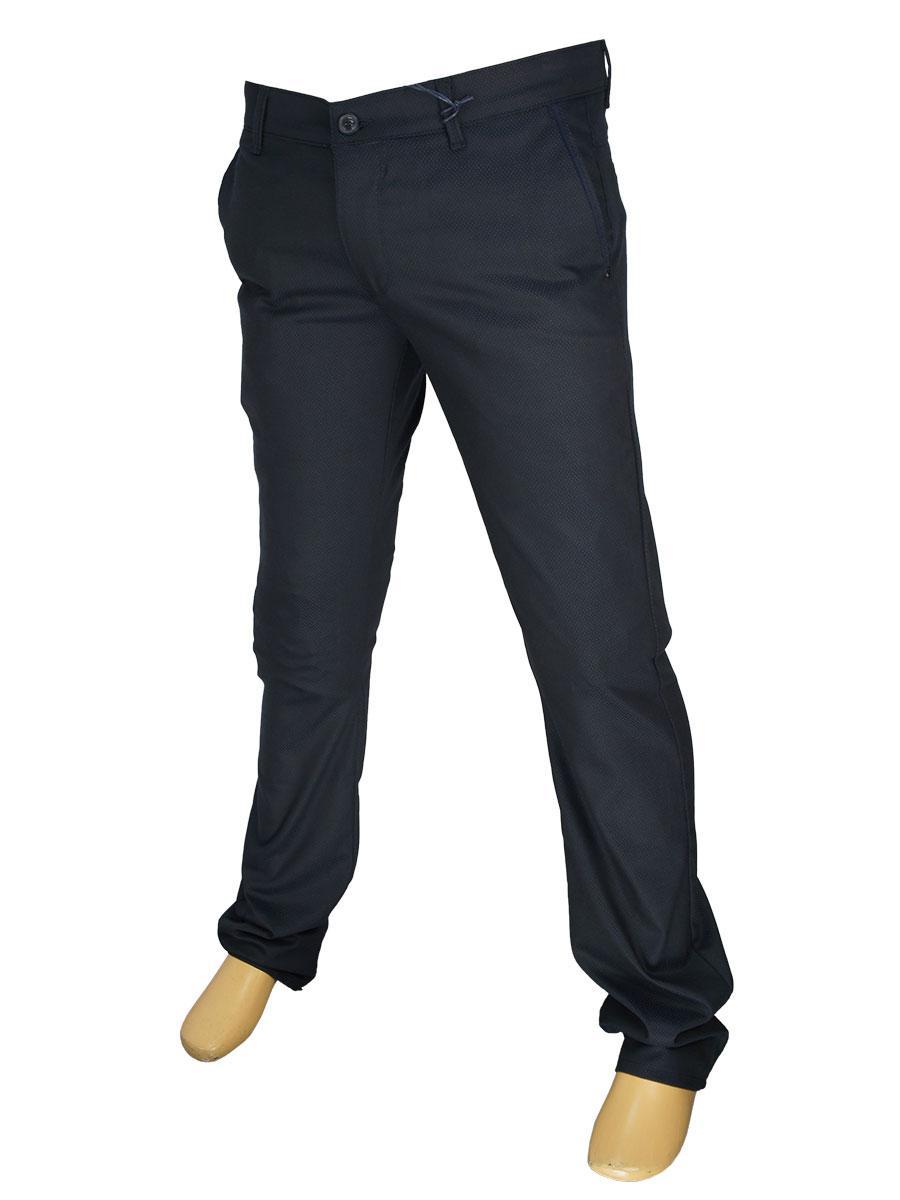 Мужские джинсы X-Foot 170-3280 темно-синего цвета