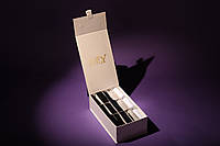 Подарочный набор мужских носков в картонной коробке на магните (15 пар). Цвет коробки - белый