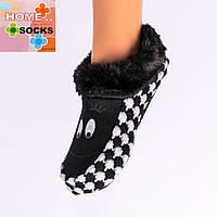Детские вязаные следы с тормозами Home socks 8192-7. 1 пара. 15 см.