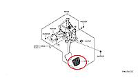 Nissan Leaf Накладка педалі