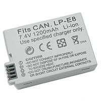 Аккумулятор для фотоаппаратов CANON 550D, 600D, 650D, 700D - LP-E8 (аналог) - 1200 ma
