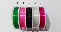 Леска  стрейч  силикон  0,6 мм  цветная