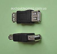 Переходник гнездо USB А на гнездо USB А