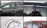 Дефлекторы окон (ветровики) с хром полосой (кантом-молдингом) Mitsubishi galant (митсубиси галант 2003г-08,200, фото 2