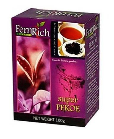 """Черный среднелистовой цейлонский чай """"Super Pekoe"""", FemRich, 100г, фото 2"""