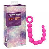 Анальная цепочка BENDY BEADS-pink , фото 3