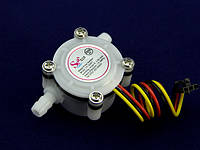 Счетчик расхода воды 0,3-6 литров в минуту - диаметр 1/8 дюйма модель YF-S401 Датчик для Arduino, фото 1