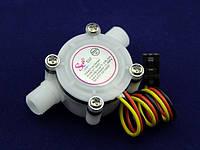 Счетчик расхода воды 0,3-6 литров в минуту - диаметр 1/4 дюйма модель YF-S402 Датчик для Arduino, фото 1