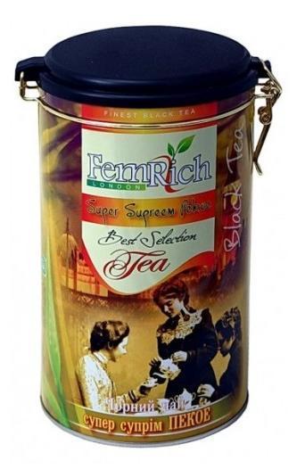 """Черный среднелистовой чай """"Супер суприм ПЕКО"""", FemRich, 350г"""