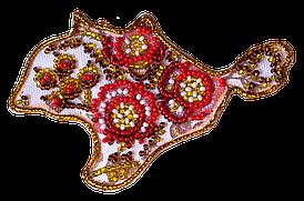 """Набор для вышивки бисером «Магнит """"Карта Украины» АР Крым"""
