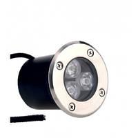 Грунтовый тротуарный led светильник 3W RGB