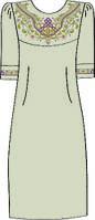Платье женское 822-14/08 разм.40 (лен)схема 43/44