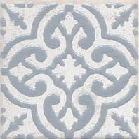 Вставка Kerama Marazzi Неаполитанская Амальфи STG\C408\1270 орнамент серый 9,9х9,9