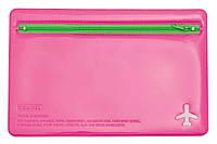 Органайзер для документов 180х270мм на молнии L6121 роз/салат.,490751.