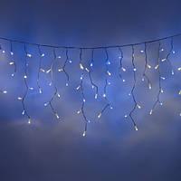 Гирлянда новогодняя LED Бахрома 5х0.5м белый каучук бело-голубое свечение