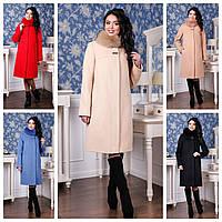 Женское зимнее пальто из кашемира (р 44-58)