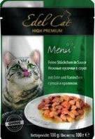 Edel Cat pouch 100г*10шт паучи для котов (разные вкусы)