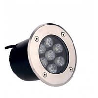 Грунтовый тротуарный led светильник 6W RGB, LM11