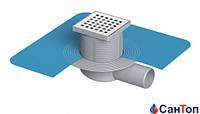 Трап для душа Valtemo 50 10x10 боковой выход c гидроизоляцией