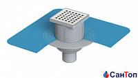Трап для душа Valtemo 50 10x10 нижний выход c гидроизоляцией