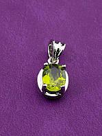 046534 Кулон Оливин 1,9 г.  украшение с натуральным камнем