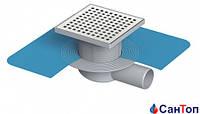 Трап для душа Valtemo 50 15x15 боковой выход c гидроизоляцией