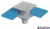 Трап для душа Valtemo 50 15x15 нижний выход c гидроизоляцией