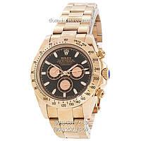 Мужские часы Rolex Daytona AAA Gold-Black-Gold Rose, механические часы Ролекс Дайтона качество