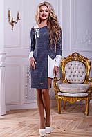 Стильный нарядный женский комплект 2474 бело-синий