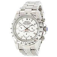 Мужские часы Rolex Daytona AAA Silver-White, механические часы Ролекс Дайтона качество