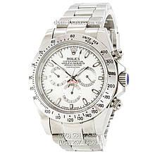 Мужские часы Rolex Daytona AAA Silver-White, механические часы Ролекс Дайтона качество, реплика, отличное качество!