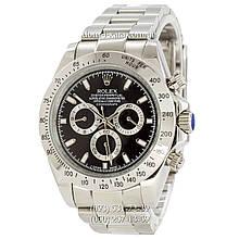 Мужские часы Rolex Daytona AAA Silver-Black, механические часы Ролекс Дайтона качество, реплика