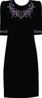 Платье женское 822-14/10 разм.40 (черное)схема 41/42