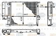 Радиатор BMW 3 E36 1991-1998 (1.6-2.5 АКП АС-) 440*440мм по сотах