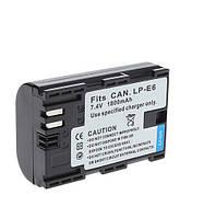 Аккумулятор для фотоаппаратов CANON 60D, 70D, 80D, 6D, 7D, 5D Mark II, 5D Mark III - LP-E6 (аналог) - 1800 ma