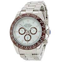 Мужские часы Rolex Daytona AAA Silver-Brown-Blue, механические часы Ролекс Дайтона качество