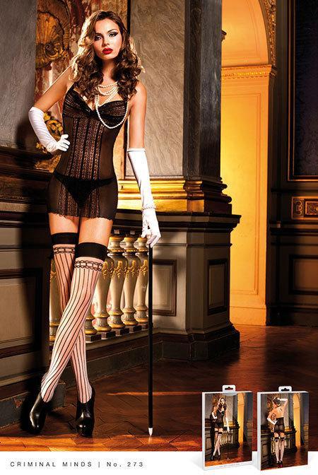 Сексуальный пеньюар с кружевом Black Lace Halter Dress