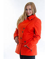 Кашемировое пальто на пуговицах № 40 (зима)