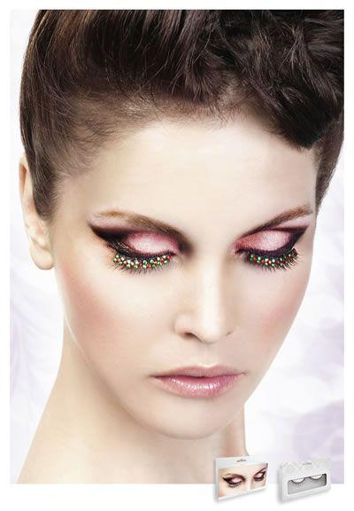 Реснички Black-Red-White Rhinestone Eyelashes