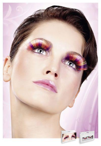 Реснички Purple-Orange-Yellow Glitter Eyelashes