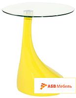 Журнальный стол Перла желтый (СДМ мебель-ТМ)