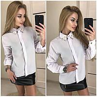 Женская рубашка с длинным рукавом и шипами