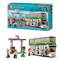Конструктор SLUBAN M38-B0331, двухэтажный автобус, фигурка, 403 деталей, в коробке, 47, 5-28, 5-7 см
